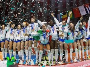 Le ragazze dell'Italia Under 18 - sport pallavolo