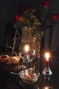 """Seratina """"in"""" in casa nostra le rose sono un gentile omaggio del marito, incredibile!)"""