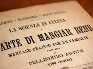 """La copertina del libro """"La Scienza in cucina e l'Arte di mangiar bene"""" di Pellegrino"""