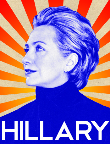 Portrait of Hillary Clinton by http://idalaerke.com/