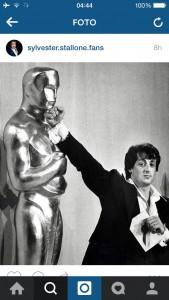 Sylvester Stallone vs Oscar - fonte: Instagram