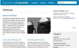 L'home page del sito di Salvatore Aranzulla