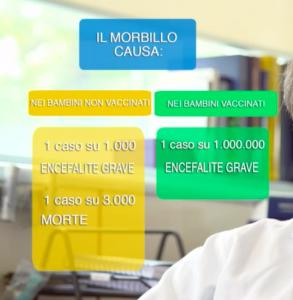 Un fermo immagine della trasmissione di SuperQuark andata in onda il 27/07/2016 sullmportanza dei vaccini (fonte.www.rai.it)