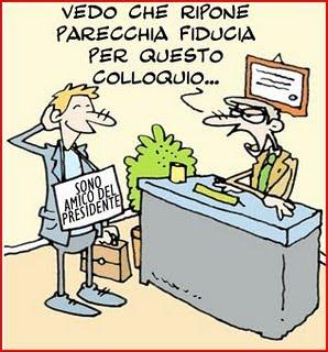 """I soliti """"raccomandati"""" (Vignetta presa da www.cronacalecce.it)"""